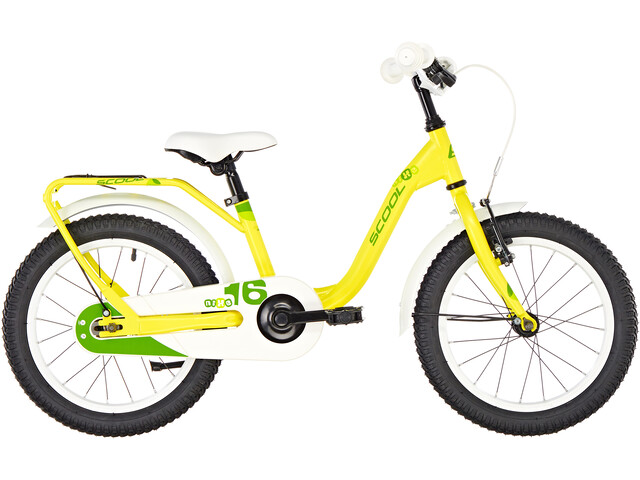 s'cool niXe 16 Staal Kinderen, yellow/green